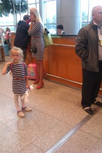 Spotted: how to do matching Mother/Daughter airport fashion